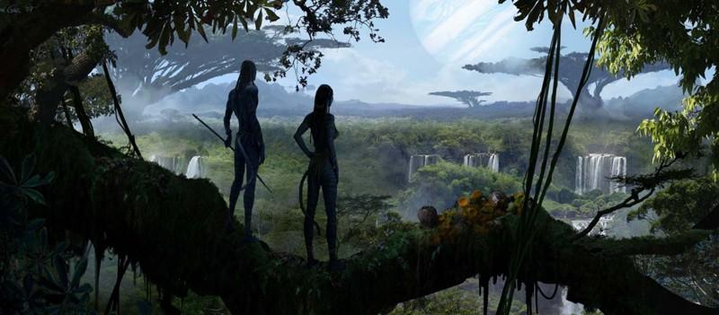 Il bellissimo pianeta Pandora in una sequenza del film Avatar, diretto da James Cameron