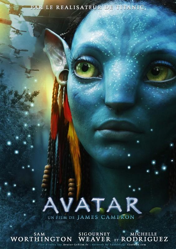 Un character poster francese di Neytiri del film Avatar