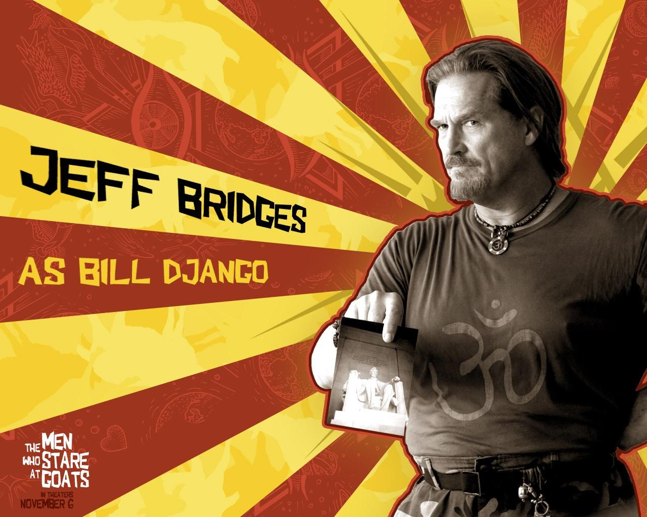 Un wallpaper di Jeff Bridges per il film The Men Who Stare at Goats