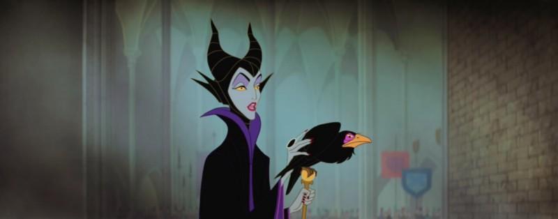 La perfida strega Malefica del film d\'animazione La bella addormentata nel bosco ( 1959 )