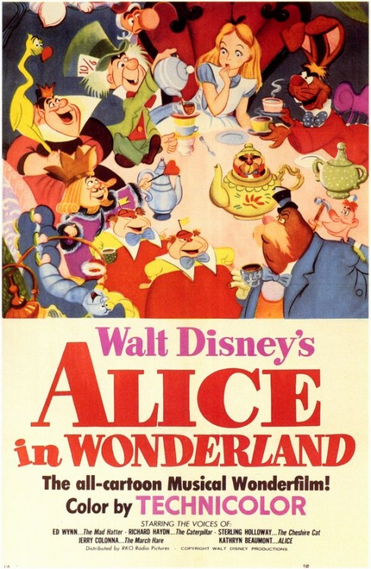 Locandina del film Alice nel paese delle meraviglie ( 1951 )