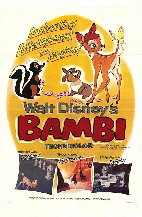 Locandina del film Bambi ( 1942 )