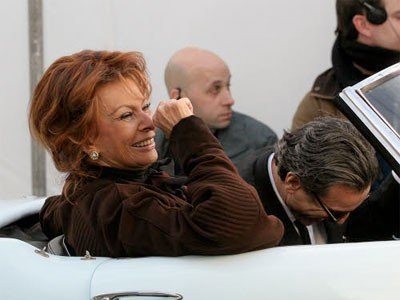 Sophia Loren sul set di Nine