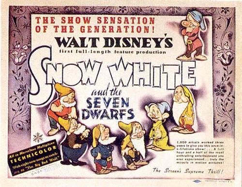 Lobbycard promozionale del film Biancaneve e i sette nani