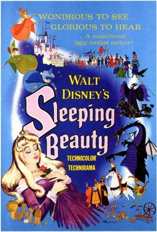 Manifesto del film La bella addormentata nel bosco ( 1959 )