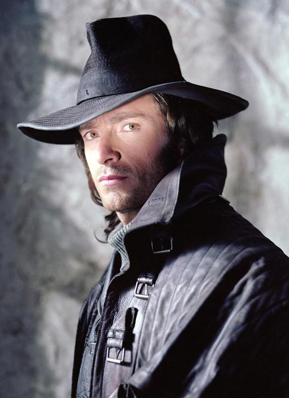 Una foto promo in primo piano di Hugh Jackman per il film Van Helsing