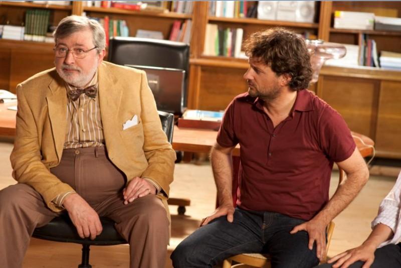 Francesco Guccini e Leonardo Pieraccioni in un'immagine del film Io e Marilyn