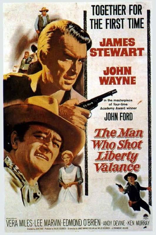 La locandina di L'uomo che uccise Liberty Valance