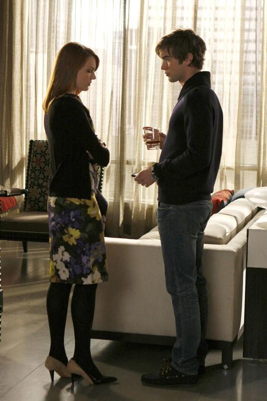 Mauree (Holley Fain) e Nate (Chace Crawford) nella puntata Treasure of Serena Madre di Gossip Girl