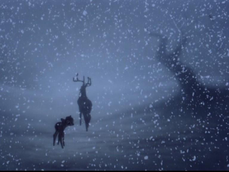 Il Grande Cervo e il cerbiatto protagonista del film Bambi ( 1942 )