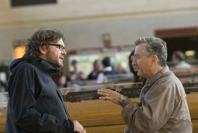 Il regista Kirk Jones e Robert De Niro sul set di Everybody's fine