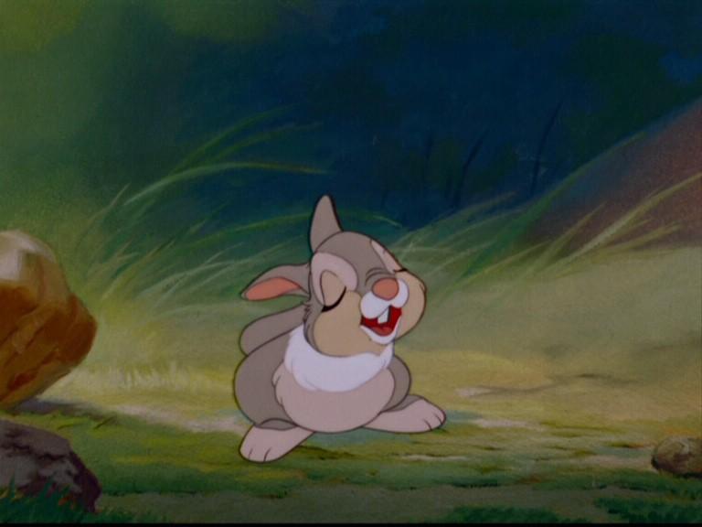 Il simpatico coniglio Tamburino del film d\'animazione Bambi ( 1942 )