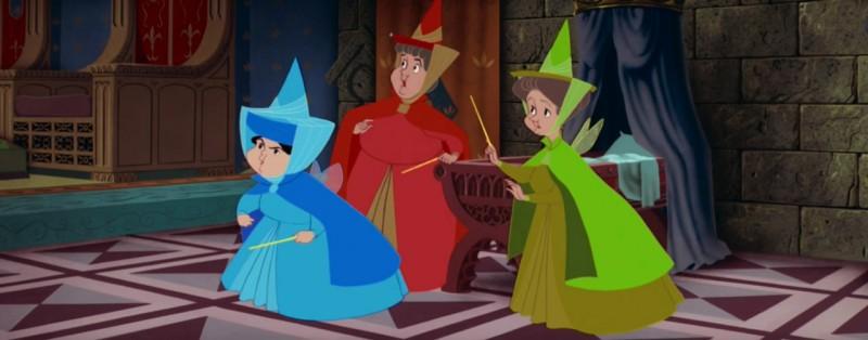Le tre simpatiche fate del film d animazione la bella