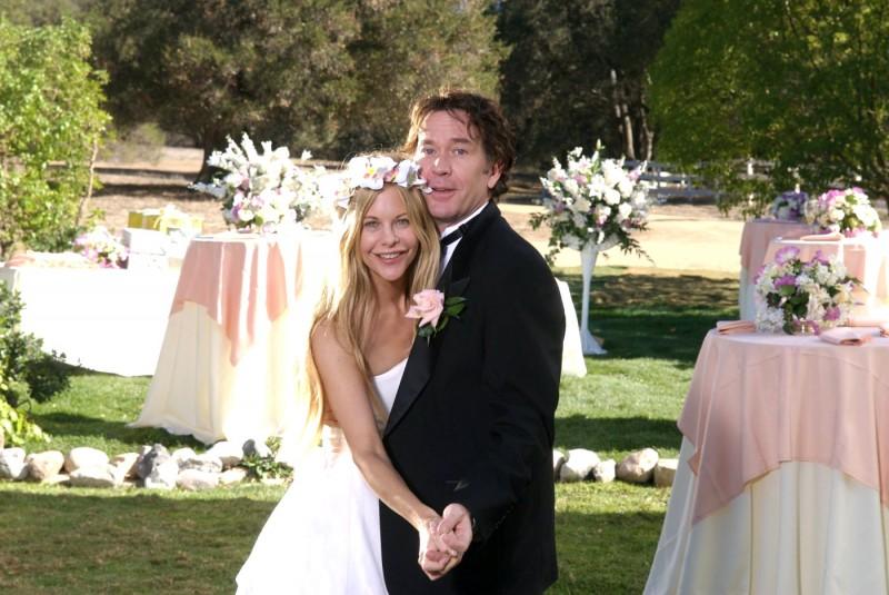 Meg Ryan e Timothy Hutton nella scena del matrimonio in Serious Moonlight