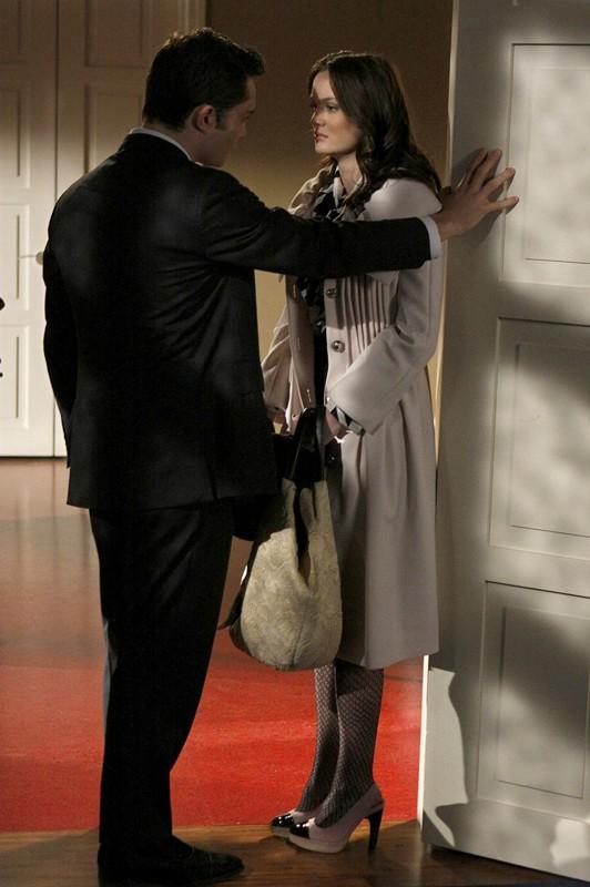 Ed Westwick (Chuck Bass) e Leighton Meester (Blair Waldorf) nell'episodio The Debarted di Gossip Girl