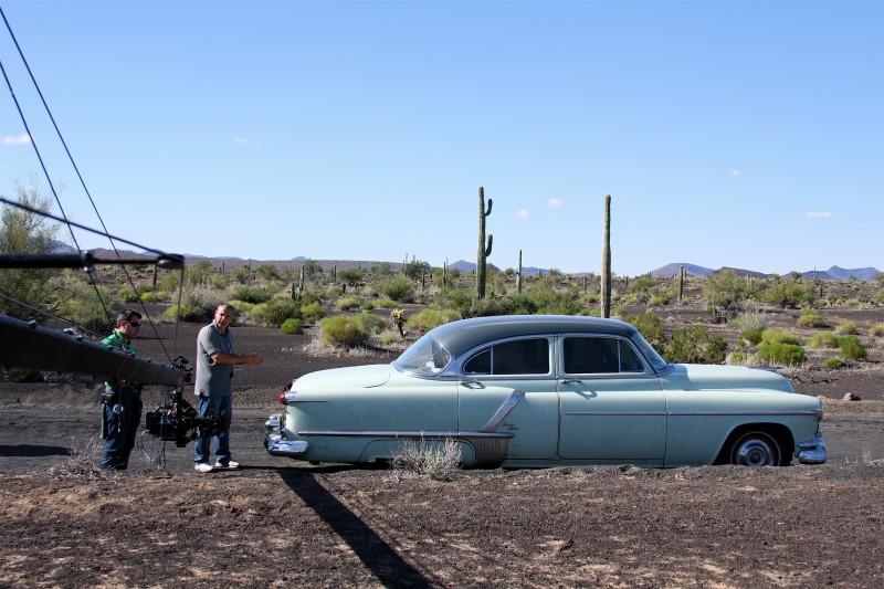 Massimo Polidori sul set in Messico del film Viaggio a Tulum