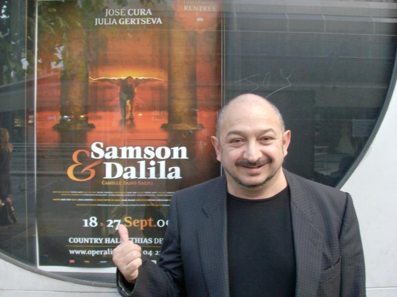 Orfeo Orlando a Liegi (Belgio) per l\'opera lirica Samson et Dalila