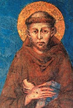 Una foto di Francesco d'Assisi