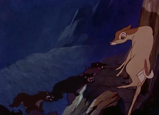 Faline in una scena del film Bambi ( 1942 )