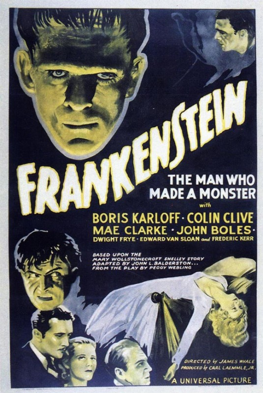 Locandina del film Frankenstein (1931) di James Whale