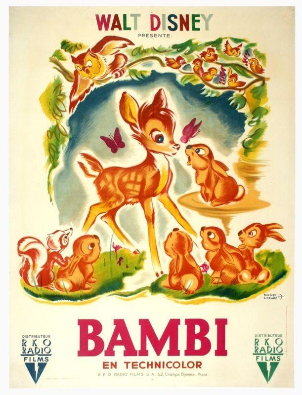 Locandina francese del film d\'animazione Bambi ( 1942 )
