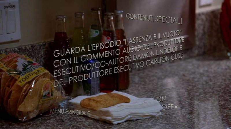 Un'immagine del menù dei contenuti speciali del disco 1 di Lost - Stagione 5