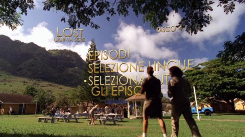 Un'immagine del menù principale del disco 4 di Lost - Stagione 5