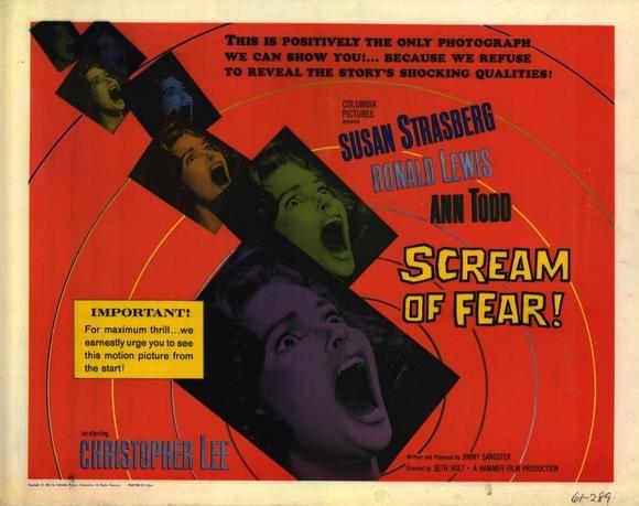 Una bella lobby card promozionale del film La casa del terrore