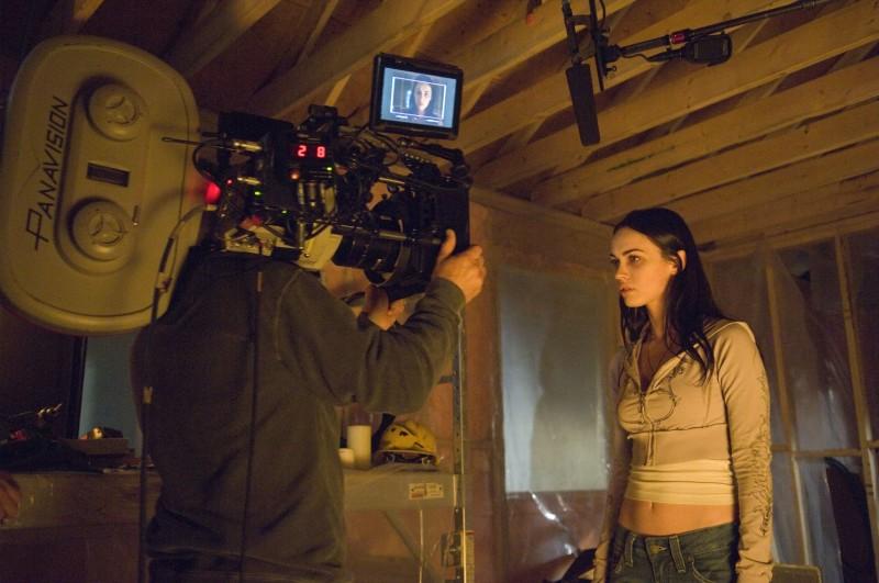 Megan Fox durante le riprese del film Jennifer's Body, scritto da Diablo Cody