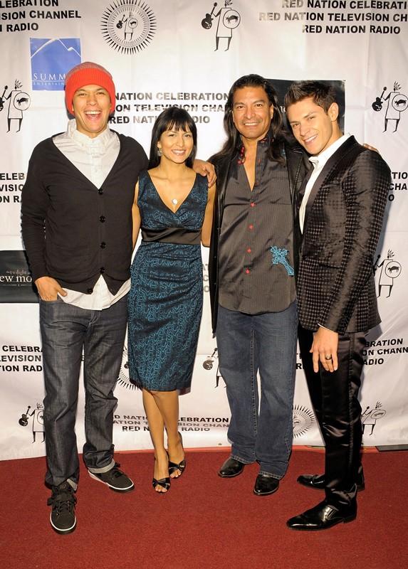 Chaske Spencer, Tinsel Korey, Gil Birmingham e Alex Meraz al 'Red Nation Film Festival', nel 2009