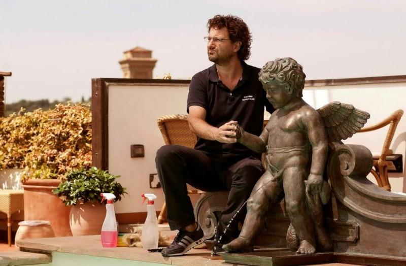 Leonardo Pieraccioni sul set del suo film Io e Marilyn