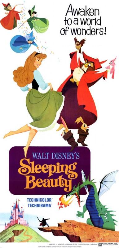 Una bella locandina del film d\'animazione La bella addormentata nel bosco ( 1959 )