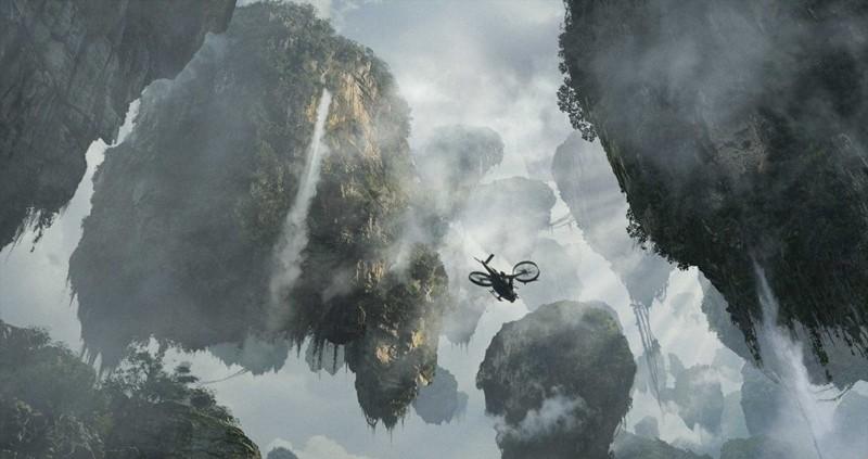 Una scena del paesaggio del pianeta Pandora nel film Avatar