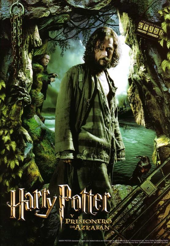 Un character poster spagnolo di Sirius Black (Gary Oldman) per il film Harry Potter e il Prigioniero di Azkaban