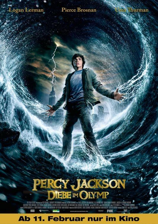 La locandina tedesca di Percy Jackson e gli dei dell'Olimpo: Il ladro di fulmini