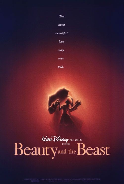 Locandina del film d\'animazione La bella e la bestia ( 1991 )