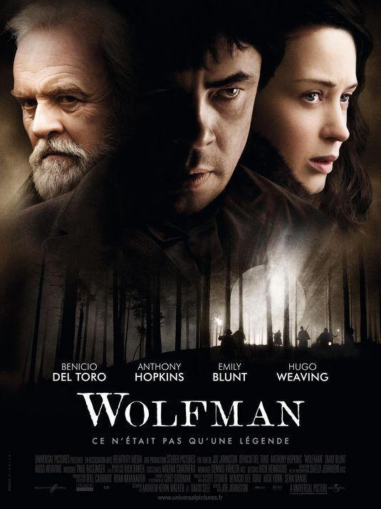 Locandina francese per il film The Wolfman