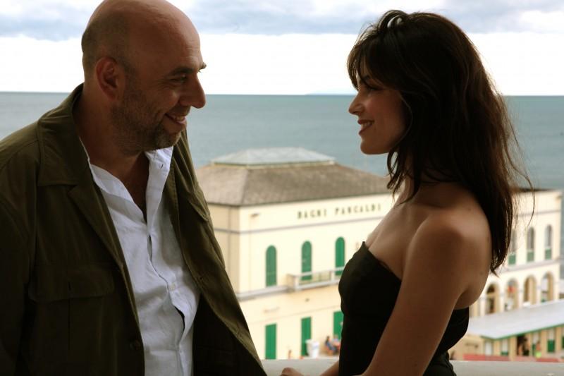 Paolo Virzì e Micaela Ramazzotti sul set de La prima cosa bella