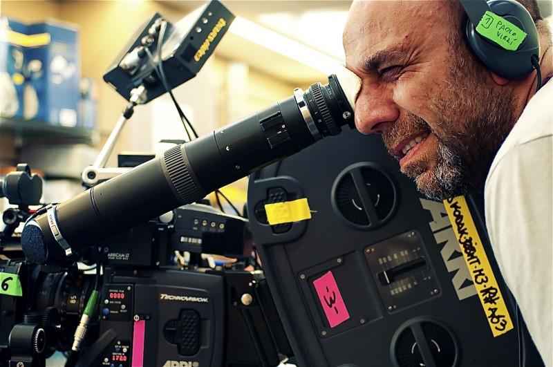 Paolo Virzì sul set de La prima cosa bella