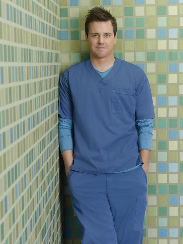 Scrubs: Michael Mosley è Drew in una foto promozionale della stagione 9