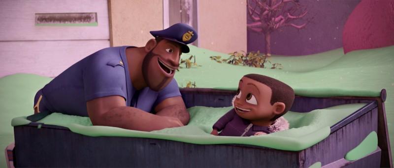 Una scena del film di animazione Piovono polpette