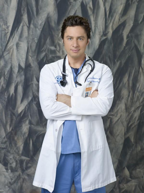 Zach Braff in una foto promozionale della stagione 9 di Scrubs