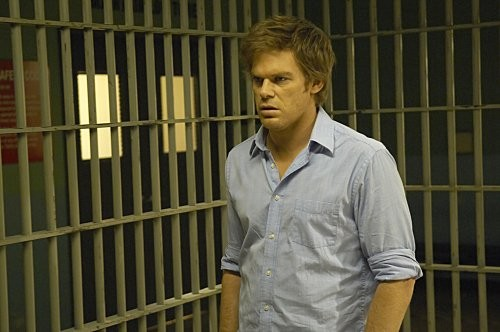 Dexter: Michael C. Hall in una scena dell'episodio The Getaway