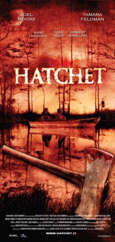 La locandina italiana di Hatchet