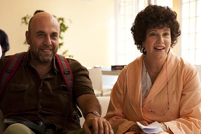 Paolo Virzì e Stefania Sandrelli sul set de La prima cosa bella