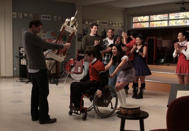 Glee: una scena dell'episodio Sectionals