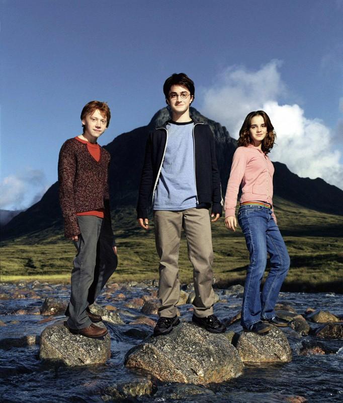 Harry Potter e il prigioniero di Azkaban: il trio protagonista per una foto promo
