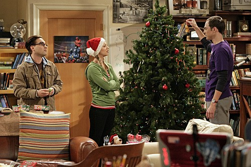 Johnny Galecki, Jim Parsons e Kaley Cuoco nell'episodio The Maternal Congruence di The Big Bang Theory