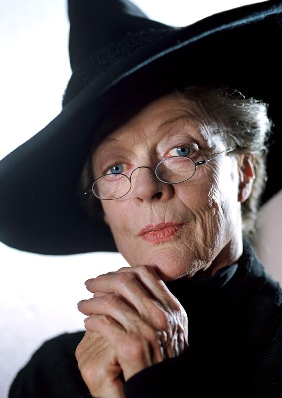 La Prof. McGranitt (Maggie Smith) in un'immagine promo in primo piano per Harry Potter e il Prigioniero di Azkaban