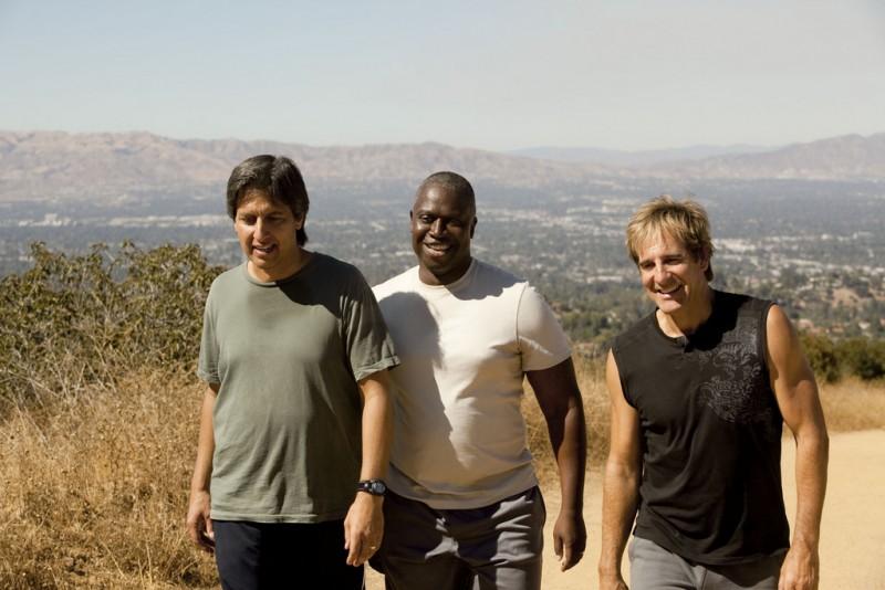 Ray Romano, Scott Bakula e Andre Braugher in un momento della serie Men of a Certain Age